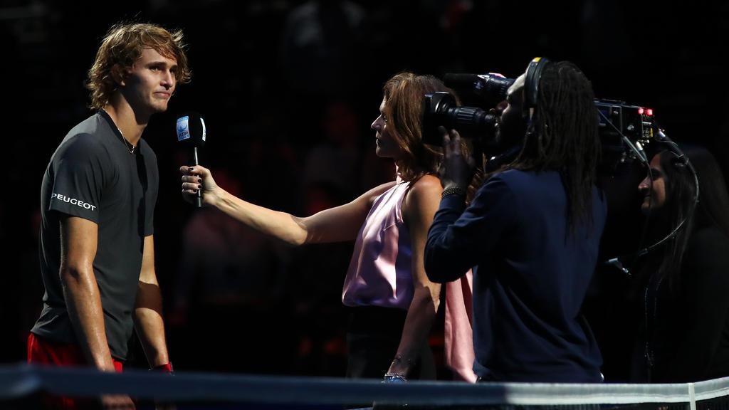 Rang beim Sieger-Interview um Fassung: Alexander Zverev