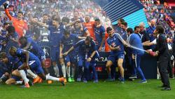 """Der FC Chelsea feierte 2018 als letzter FA-Cup-Sieger noch mit """"echtem"""" Champagner"""