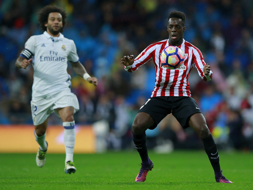 Iñaki Williams (r.) geht für Athletic Bilbao auf Torejagd