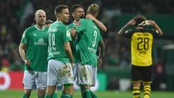 Bremen jubelte gegen den BVB über drei eigene Tore