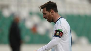 Lionel Messi geriet in einen Disput mit Boliviens Betreuer Nava