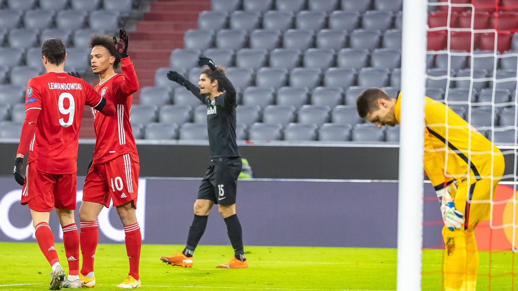 Lewandowski und Sané trafen jeweils für den FC Bayern in der Champions League