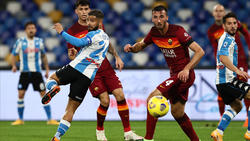 Lorenzo Insigne (l.) traf zum 1:0 für Neapel