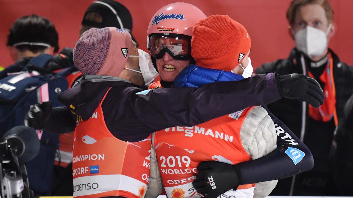 Das DSV-Team verteidigte den Titel in Oberstdorf