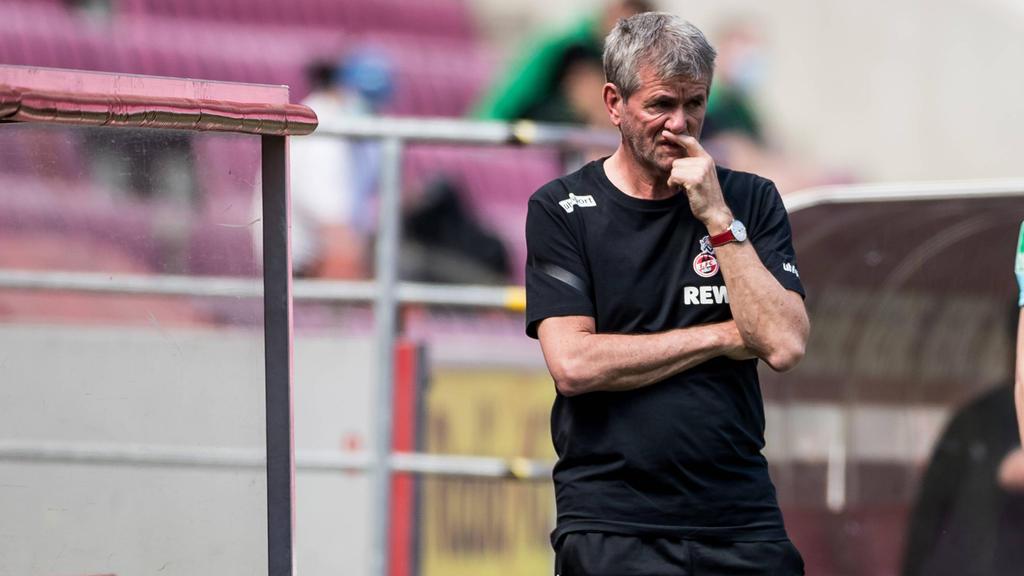 Friedhelm Funkel könnte mit dem 1. FC Köln in die 2. Liga stürzen