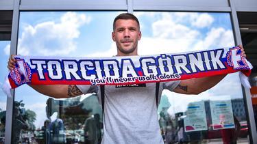 Lukas Podolski ist am Mittwoch in Polen gelandet