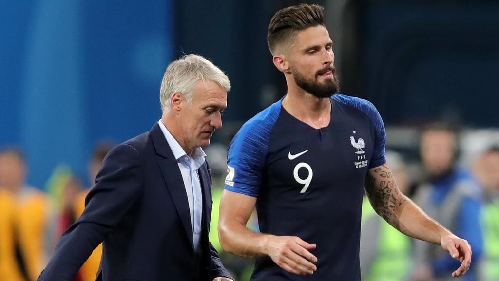 Stellt sich ganz in den Dienst der Mannschaft: Frankreichs Mittelstürmer Olivier Giroud