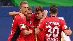 Der SC Freiburg holte in Wolfsburg seinen ersten Saisonsieg