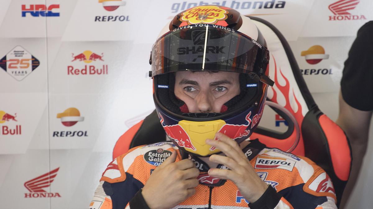 Bei Honda ist Jorge Lorenzo von Siegen bislang weit entfernt