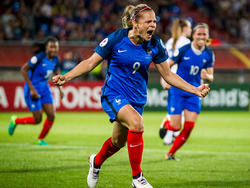 Eugénie Le Sommer gehört zu den großen Stars bei der EM. Sie erzielte gegen Island das Siegtor