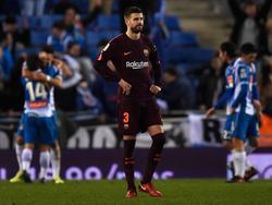Piqué y el Barcelona perdieron por primera vez en el nuevo estadio del Espanyol. (Foto: Getty)