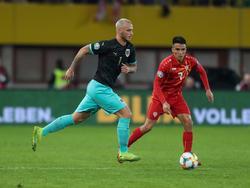 Österreich führt gegen Nordmazedonien