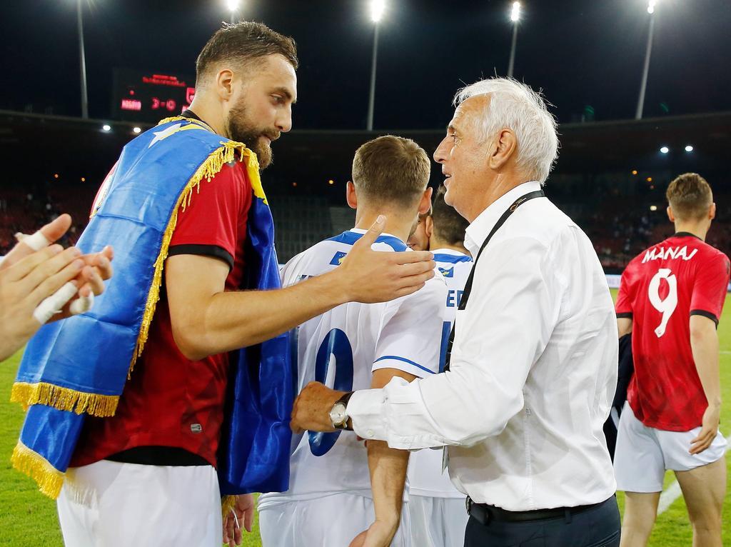 Kosovos Aushängeschild Nuhiu nach einem Testspiel gegen die Schweiz