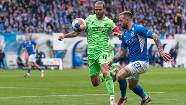Rostock und Sandhausen teilen sich die Punkte