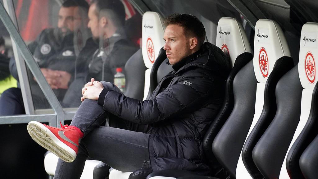Julian Nagelsmann verlor mit seiner Mannschaft bei Eintracht Frankfurt