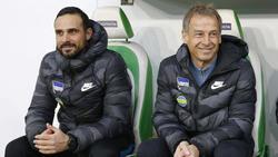 Alexander Nouri (l.) kam als Assistent von Jürgen Klinsmann zu Hertha BSC