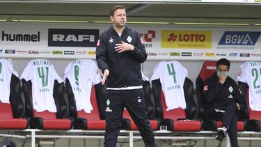 Florian Kohfeldt siegte mit Werder knapp in Freiburg