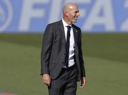 Zidane en el partido contra el Huesca de LaLiga.