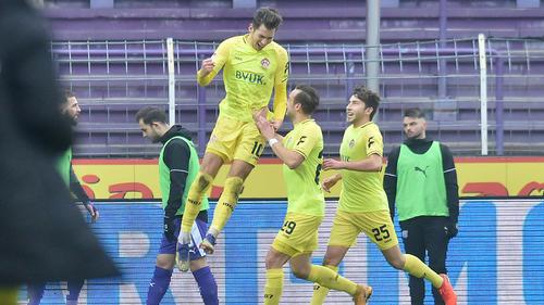 Die Würzburger Kickers setzten sich gegen den VfL Osnabrück durch