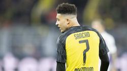 Jadon Sancho trägt beim BVB die Nummer 7