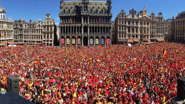In Belgien herrschte am Sonntag Partystimmung. Bild: twitter.com/BelgianTOIL