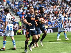 Gameiro dio la victoria al Valencia en Anoeta. (Foto: Imago)