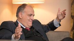 Liga-Präsident Javier Tebas hat Gebühr-Prellern den Kampf angesagt