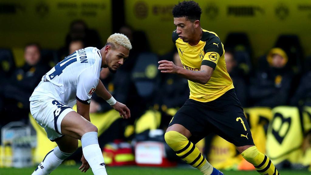 Jadon Sancho (r.) will mit dem BVB in der Bundesliga hoch hinaus