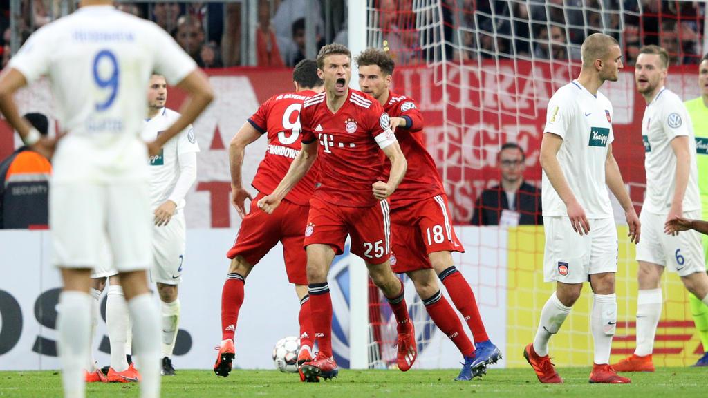 Der FC Bayern setzte sich gegen den FC Heidenheim durch