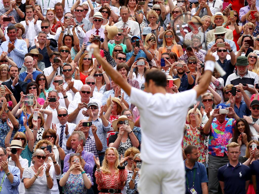 Roger Federer bei seinem Triumph in Wimbledon