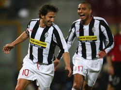 David Trezeguet (dcha.) junto a Del Piero.