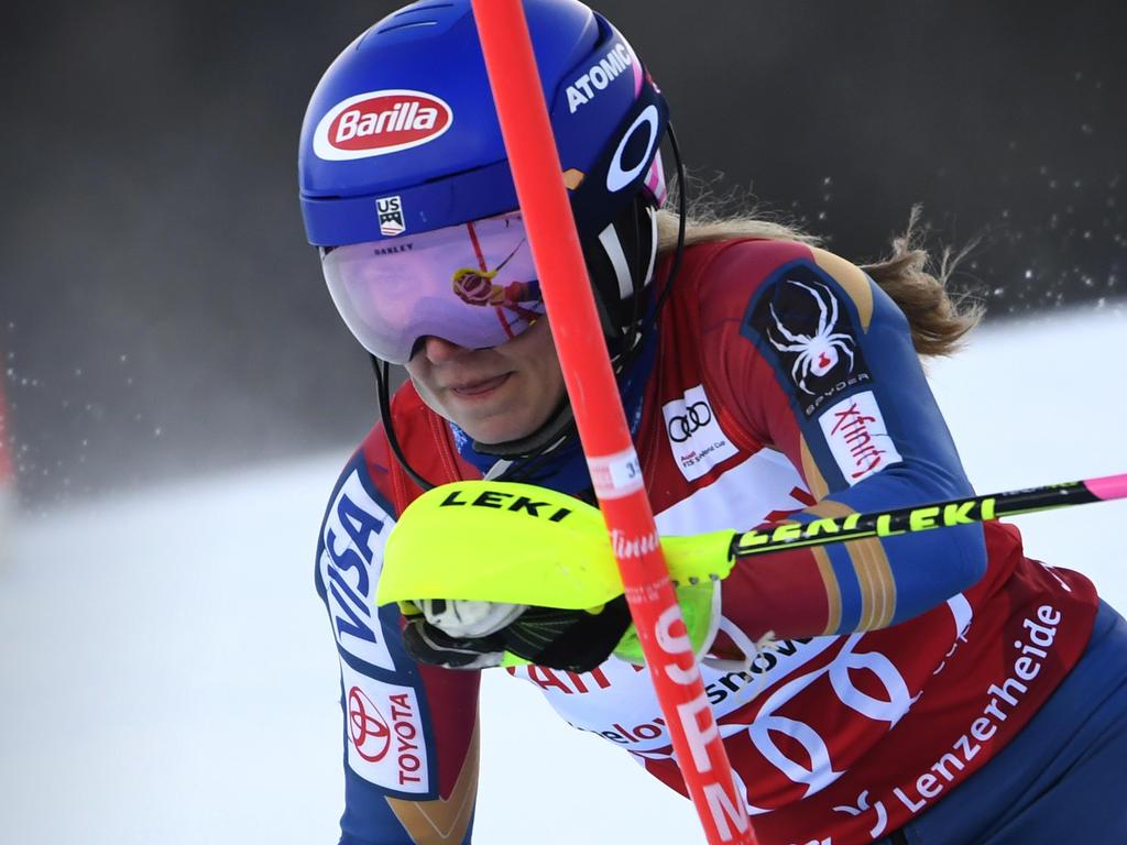 Mikaela Shiffrin scheidet beim Slalom in Lenzerheide aus