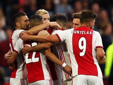 El Ajax celebra su victoria frente al PAOK.