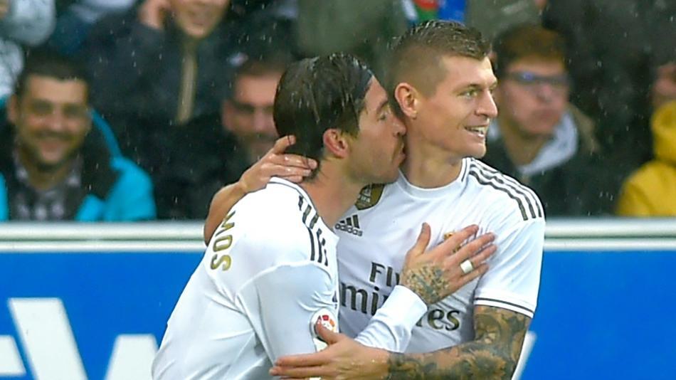 Toni Kroos legte Reals Führungstreffer durch Ramos auf