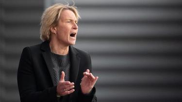 Martina Voss-Tecklenburg machte ihre Erwartungshaltung klar