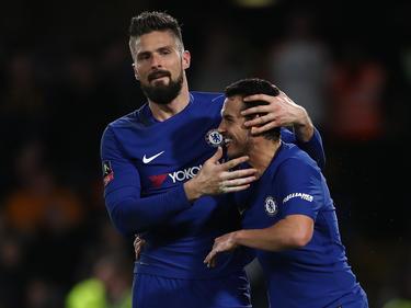 Olivier Giroud erzielte seinen Debüt-Treffer für den FC Chelsea