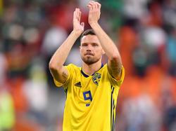 Marcus Berg steht mit Schweden im Achtelfinale