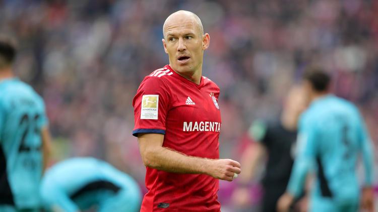 Arjen Robben liegt mit dem FC Bayern München zur Zeit nur auf Rang fünf