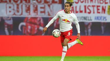Yussuf Poulsen traf beim 1:1 gegen Galatasaray für RB Leipzig