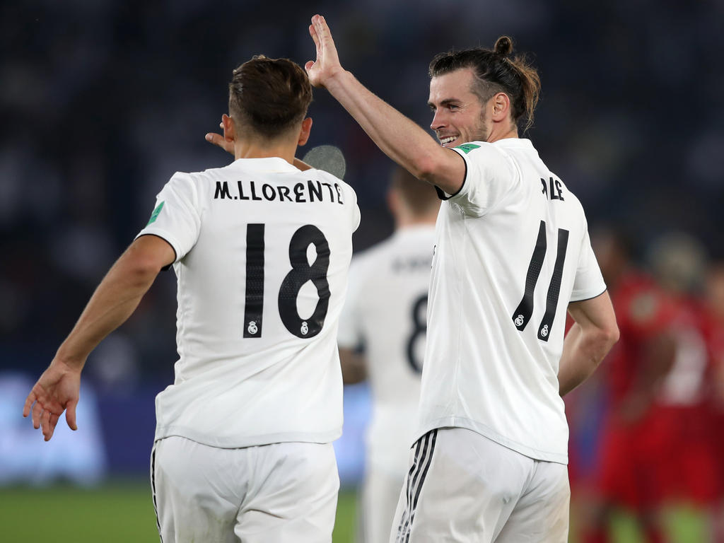 Bale felicita a Marcos Llorente en una imagen de archivo. (Foto: Getty)