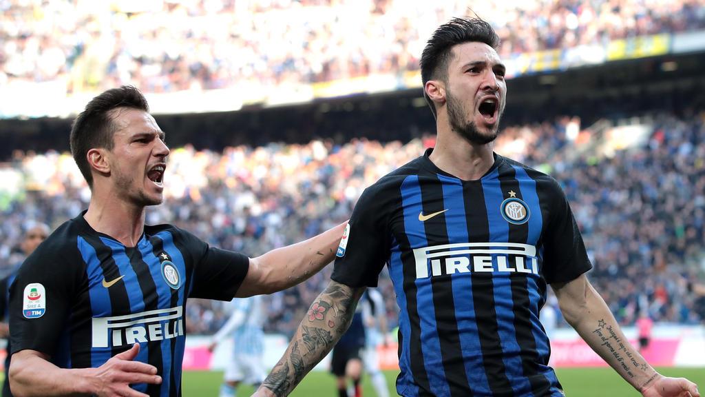 Traf beim Inter-Sieg gegen SPAL: Matteo Politano (r.)