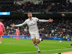 Mariano is de gevierde man bij Real Madrid. Hij heeft zojuist zijn ploeg op 3-0 gezet tegen de semi-profs van CD Leonesa in de Copa del Rey. (30-11-2016)