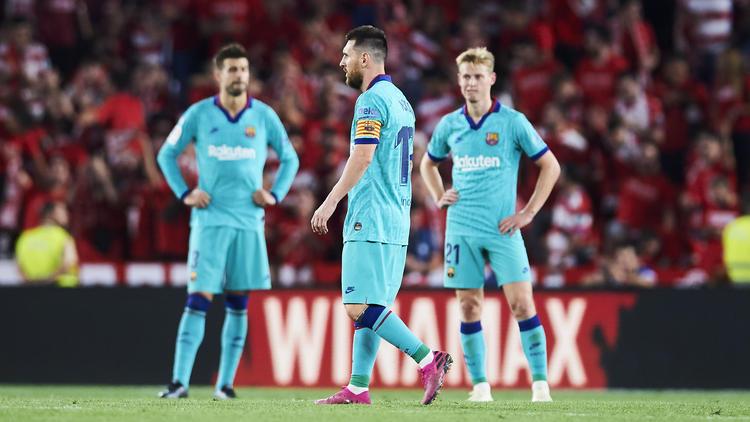 Ratlose Gesichter: Der FC Barcelona steckt in der Krise
