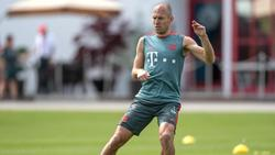 """Zurück"" im Bayern-Training: Arjen Robben"