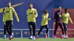 Imagen de un entrenamiento del FC Barcelona.