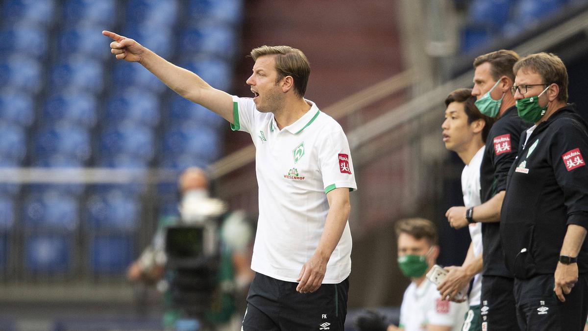 Florian Kohfeldt will drei Punkte gegen Eintracht Frankfurt mitnehmen