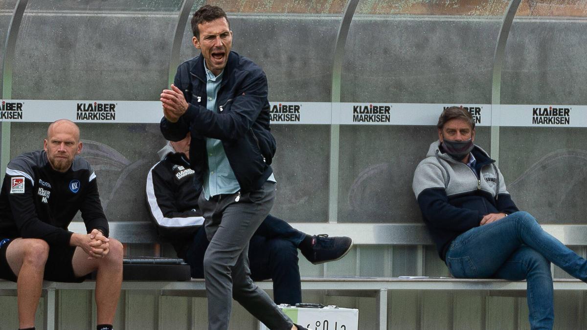 Soll noch vor Ablauf der Saison mit einem Cheftrainer-Vertrag ausgestattet werden: KSC-Trainer Christian Eichner