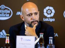 Miguel Cardoso en su presentación con el Celta de Vigo. (Foto: Imago)