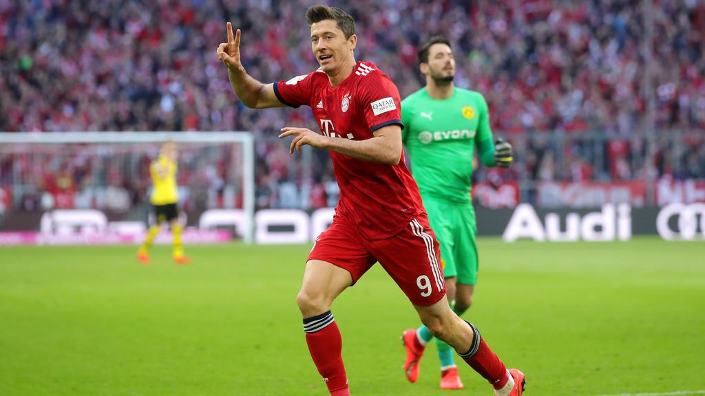 Lewandowski bejubelt seinen Treffer