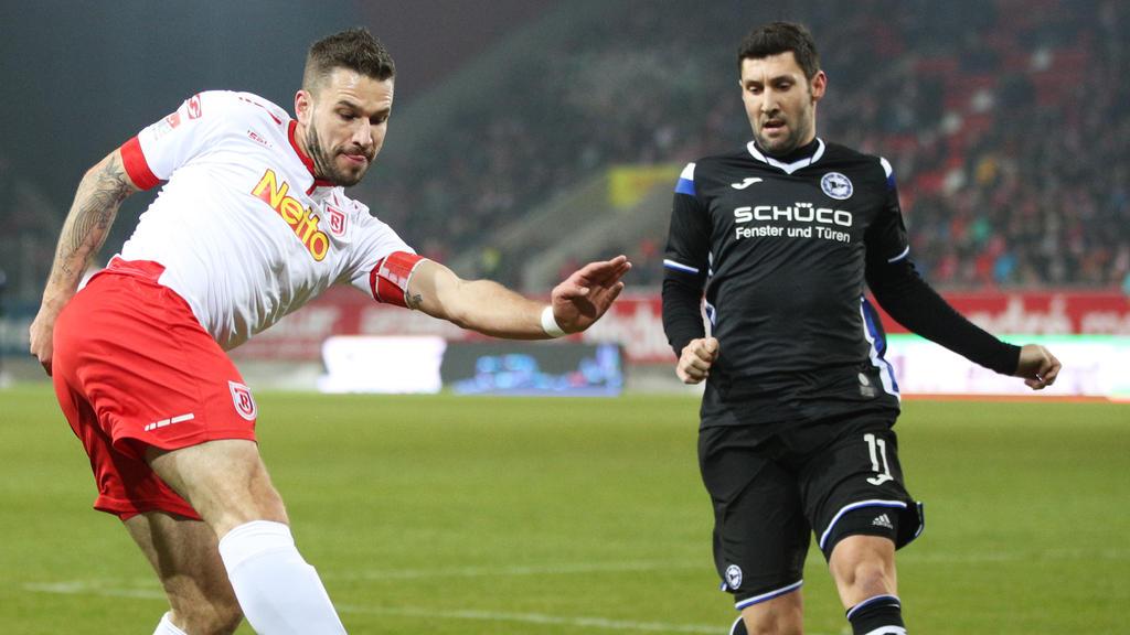 Stephan Salger (r.) spielt bereits seit 2012 für die Arminia